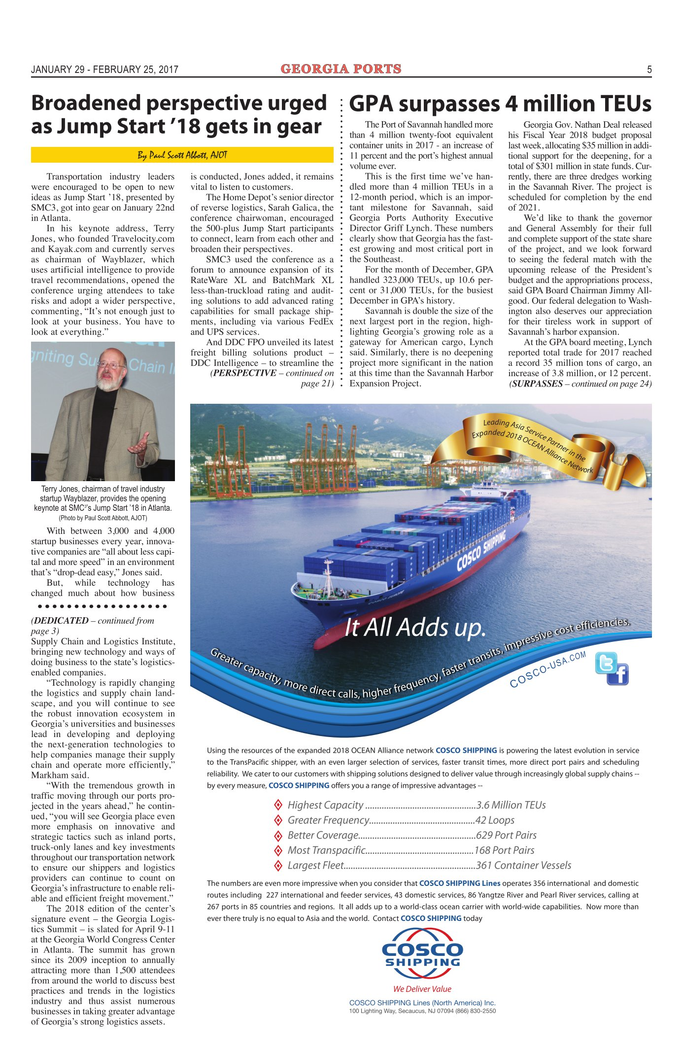 AJOT DIgital Edition | Issue #663 | Georgia Ports | Delaware